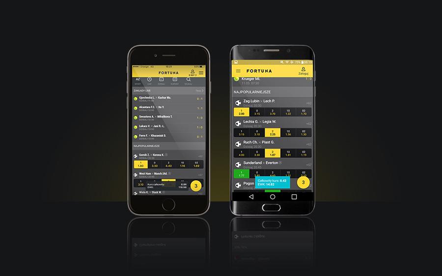 aplikacja mobilna na telefon fortuna